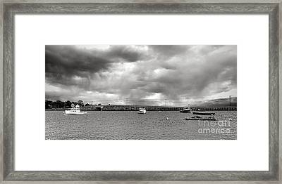 Storm Over Bailey Island Framed Print by Olivier Le Queinec