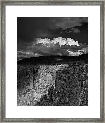 Storm Over Black Canyon Framed Print by Joseph Smith