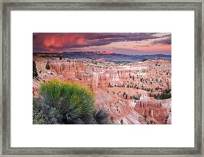 Storm Over Bryce Canyon Framed Print by Eric Foltz