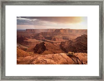 Storm Over Canyonlands Framed Print