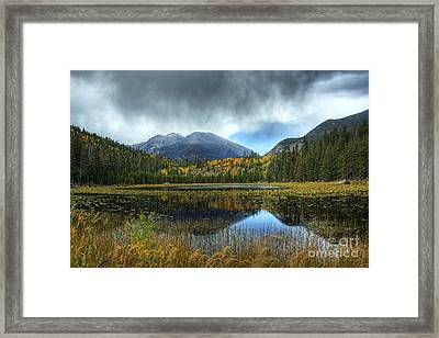 Storm Over Cub Lake Framed Print