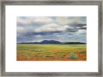 Storm Over Desert Framed Print by Max Mckenzie
