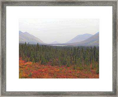 Framed Print featuring the photograph Storm Over Grayling Lake by Adam Owen
