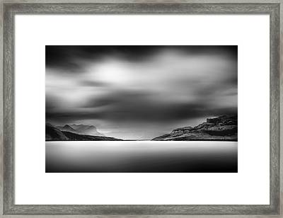 Storm Over Jasper Lake Framed Print