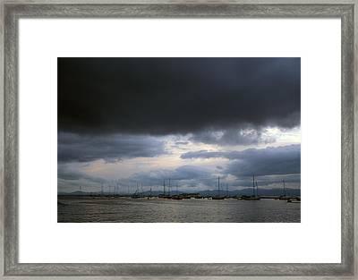 Storm Over Lake Champlain Framed Print