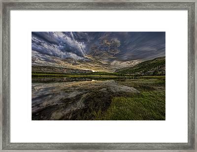 Storm Over Madison River Valley Framed Print
