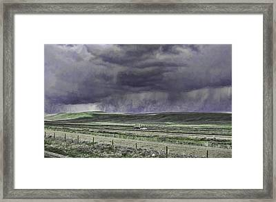 Storm Over Monida Pass  Framed Print