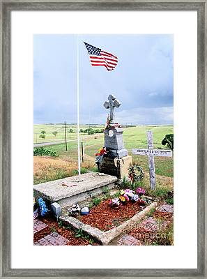 Storm Over Red Cloud Framed Print by Chris Brewington Photography LLC