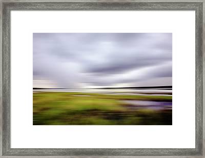Storm Over River Framed Print