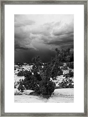 Storm Over Sand Bench Utah Framed Print by John Hermann