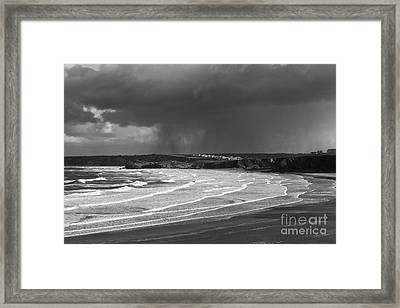 Storm  Over The Bay Framed Print by Nicholas Burningham