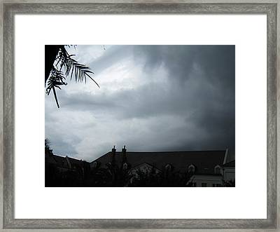 Storm Over The Convent Framed Print by Tom Hefko