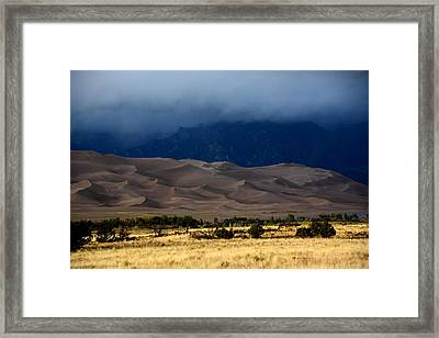 Storm Over The Great Dunes Colorado  Framed Print