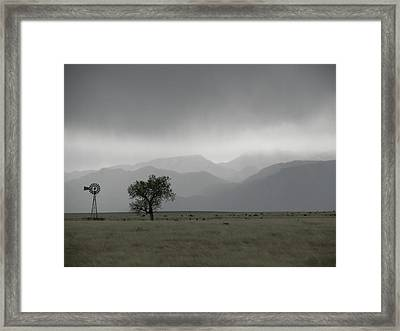 Storm Over The Rockies Framed Print