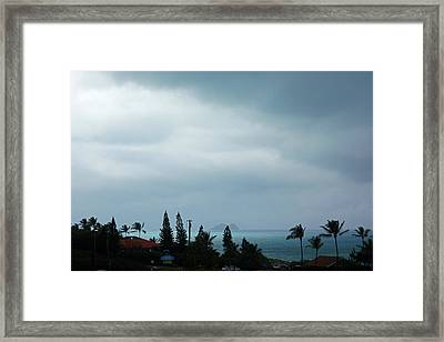 Stormy Day Hawaii Framed Print by Kevin Smith