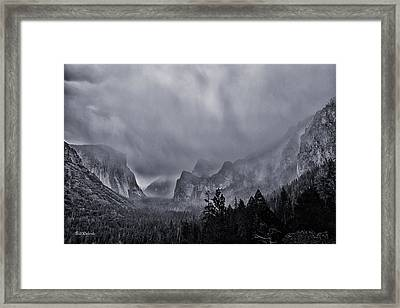 Storm Over Yosemite Framed Print by Bill Roberts