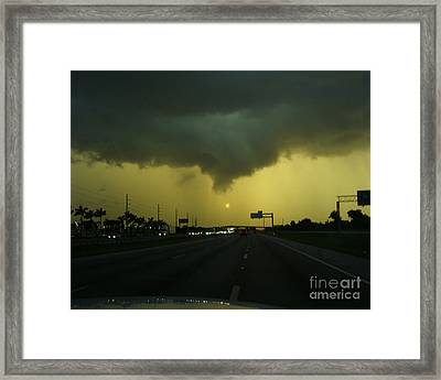 Framed Print featuring the photograph Storm Overhead by Merton Allen