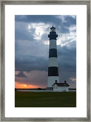 Storm Passes Bodie Island Lighthouse Framed Print