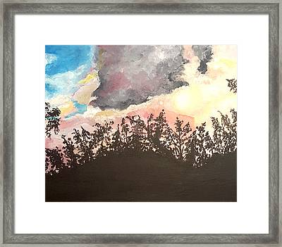 Storm Passing Through Framed Print