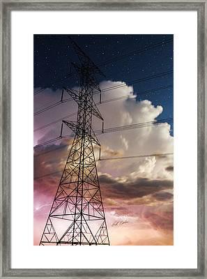 Storm Power Framed Print