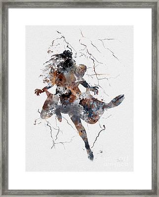Storm Framed Print by Rebecca Jenkins