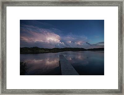 Storm Reflection Framed Print by Aaron J Groen