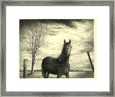 Storm Framed Print by Richard Klingbeil