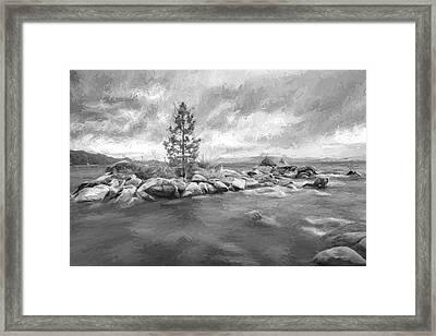 Storm Runs Through Iv Framed Print