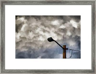 Storm Sentinel Framed Print