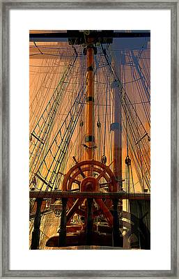 Framed Print featuring the photograph Storm Ship Of Old by Lori Seaman