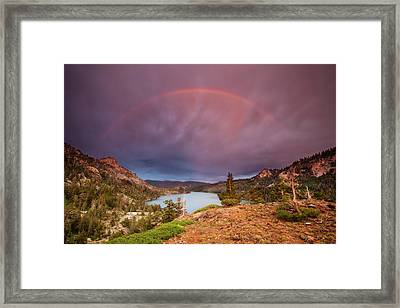 Storm Skies Over Echo Framed Print