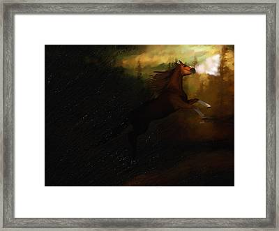 Storm Spooked Framed Print by Angela A Stanton