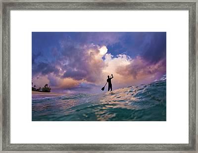 Storm Stander Framed Print