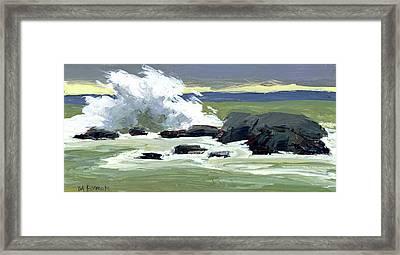 Storm Surf Framed Print