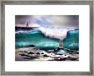 Storm Surf Moment Framed Print