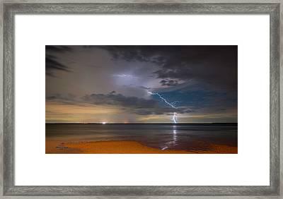 Storm Tension Framed Print