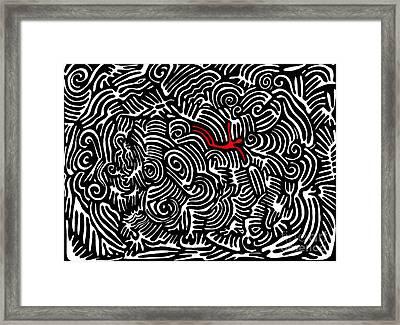 Storm Tossed Framed Print by Sarah Loft