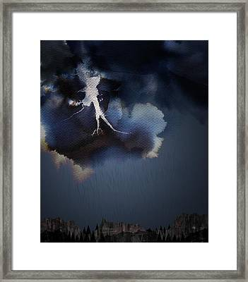 Storm Framed Print by Varpu Kronholm