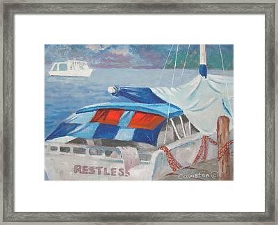 Framed Print featuring the painting Storm Warning by Tony Caviston