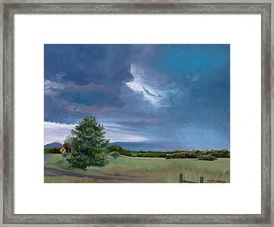 Storm Warning Yell County Arkansas Framed Print by Cathy France