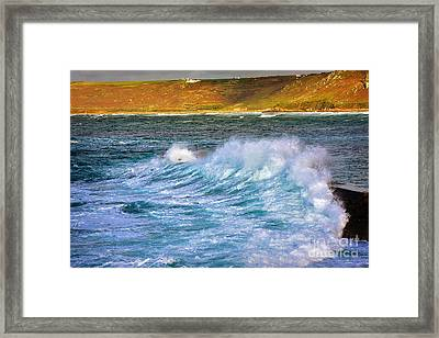 Storm Wave Framed Print by Louise Heusinkveld