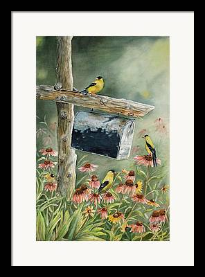 Old Fence Posts Paintings Framed Prints