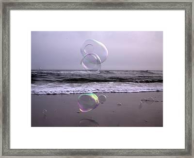 Storming Bubbles Framed Print by Betsy Knapp