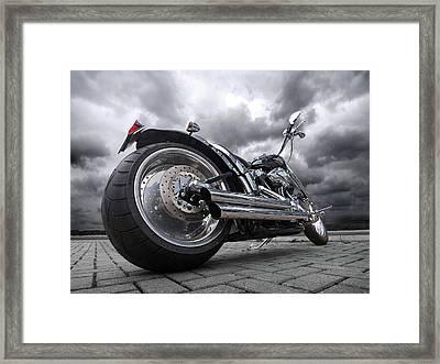 Storming Harley Framed Print