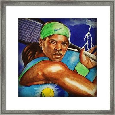 Storming Serena Framed Print
