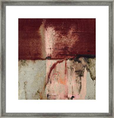 Stormless - Contemporary Square Abstract Painting Framed Print by Modern Art Prints