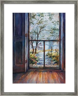 Storm's A Brewin' Framed Print by Sue Zimmermann