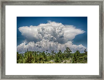 Storms A Brewing Framed Print