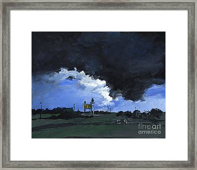 Storm's A Comin' Framed Print by Joseph A Langley