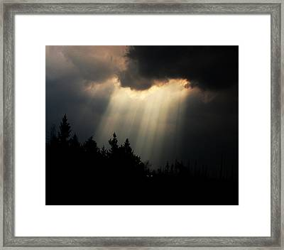 Storms And Sun Rays Framed Print